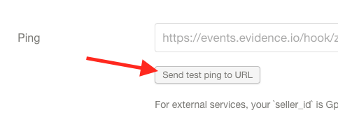 """Click """"Send test ping to URL""""."""