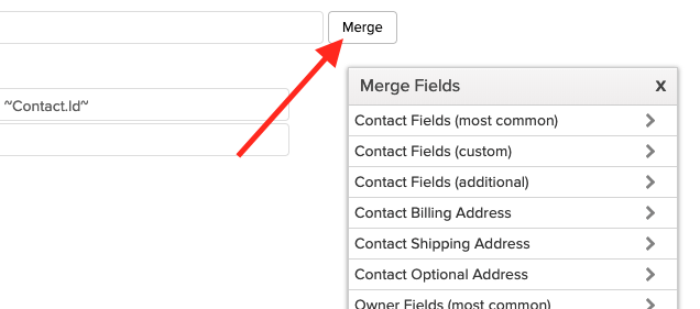 Merge fields.