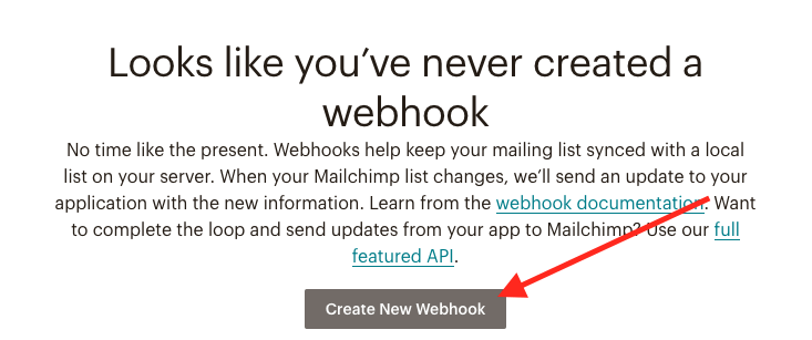 Click the create new webhook button.