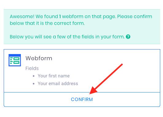 click confirm.