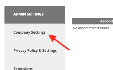 "Then find and click ""Company Settings""."