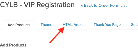 "Click the ""HTML Areas"" tab."
