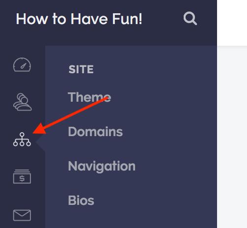Site settings.