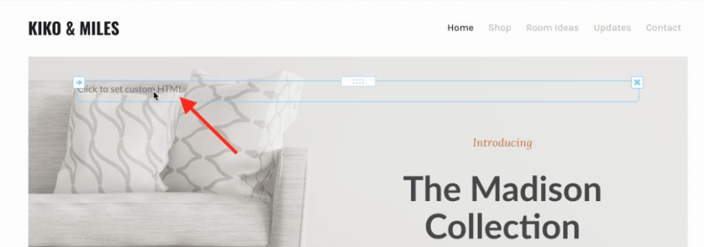 click the widget to add code.