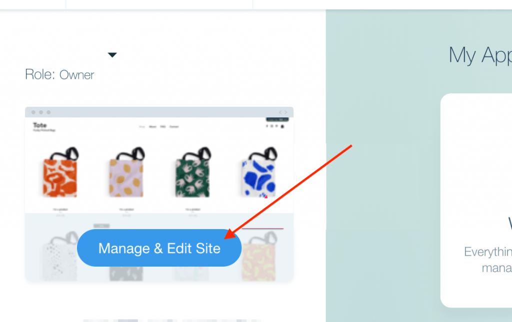 Manage & Edit Site