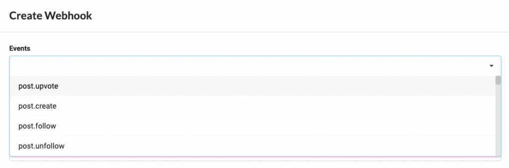 Select the event you want to fire.