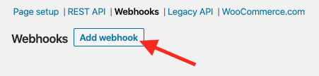 Add Webhook.