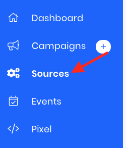 To begin to add a webform source (for a generic webform), click on sources.
