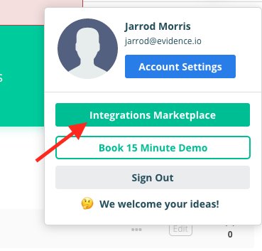 Integrations Marketplace.