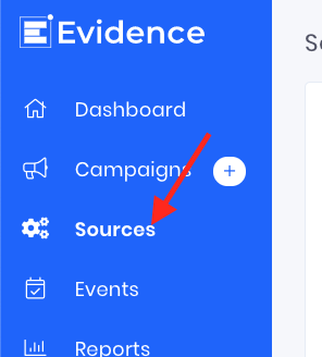 Arrow pointing to Sources