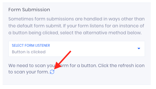 Click the Refresh button so that Evidence can scan your form for buttons.