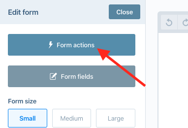 form actions button