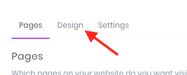 Now click the Design tab.