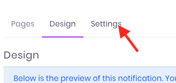 Click on the Settings tab.