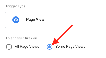click some page views radio button