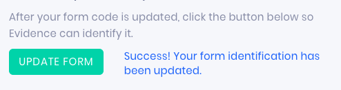 click the update form button and wait for success message